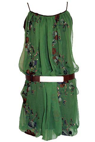 garden dressBoho Chic, Summer Dresses, Fashion, Hippie Gardens, Cowboy Boots, Gardens Dresses, The Dresses, Belts, Green Dresses