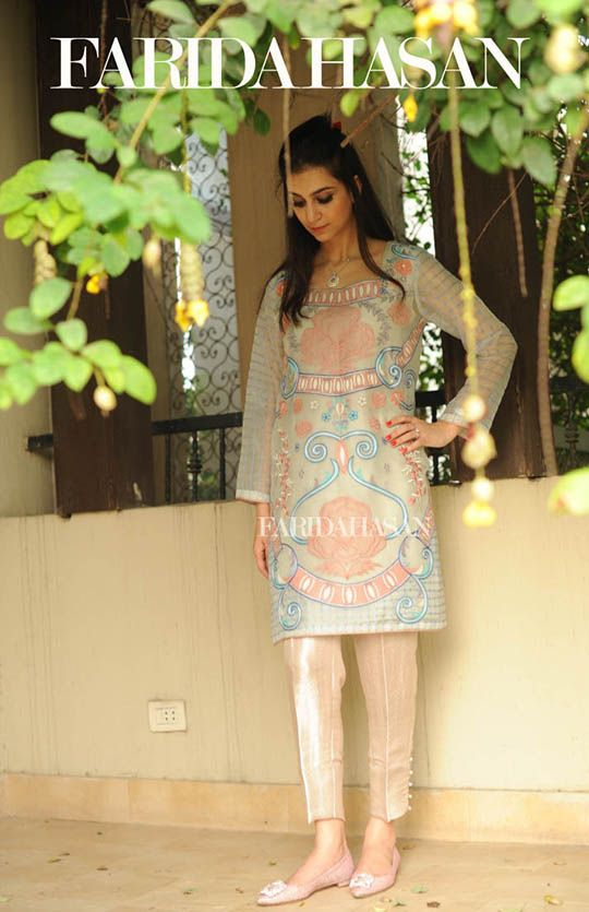 Farida Hasan is one designer you can always count on for gorgeous and wearable Eid outfits. Her latest, luxury Eid collection is a mix of folk embroidered kurtas, net capes, satin finished formals and intricate gota embellished pret wear. The shoot itself depicts Eid wonderfully with a gathering of girls all dressed up in festive […]