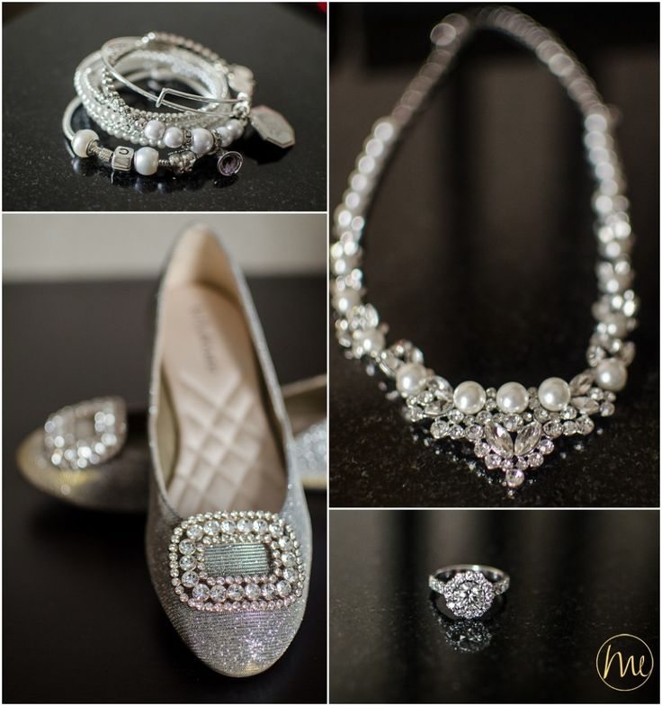 Wedding shoes & jewellery