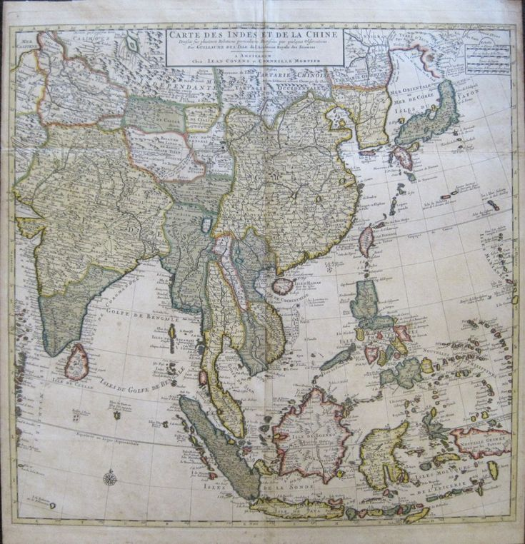 Guillaume Delisles wonderful map of Asia from