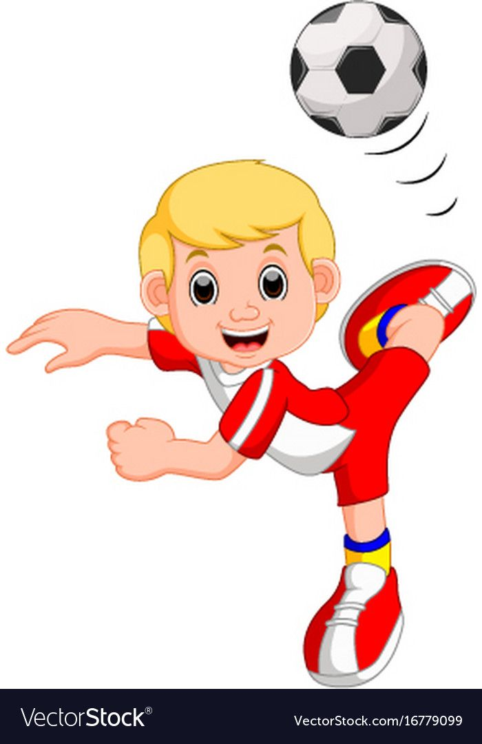Illustration Of Boy Cartoon Playing Football Download A Free Preview Or High Quality Adobe Illustrator Ai Eps Pdf And High Cartoon Kids Clipart Cartoon Kids