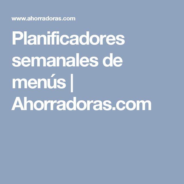 Planificadores semanales de menús | Ahorradoras.com