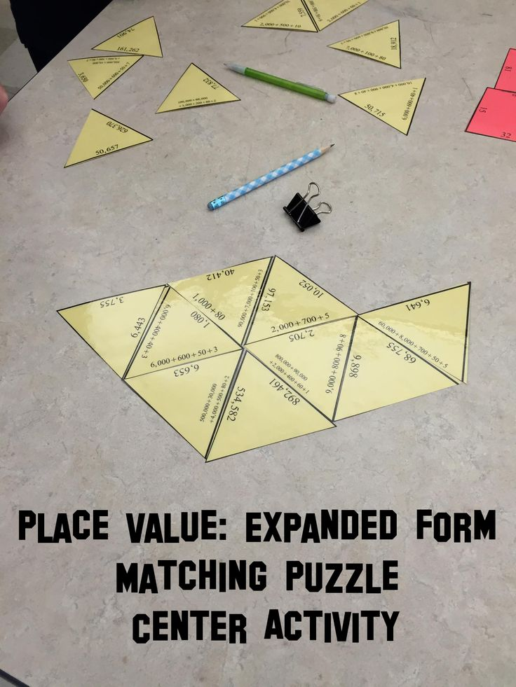 Engaging place value expanded form activity for math centers. My students cheer…
