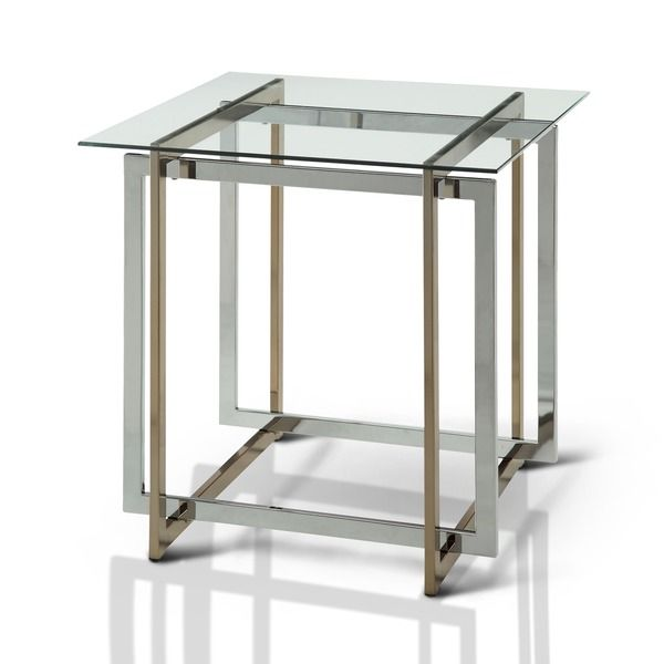 nice Furniture of America Tamrie Contemporary Two-Tone Glass Top End Table Check more at http://hasiera.co.uk/s/tables/product/furniture-of-america-tamrie-contemporary-two-tone-glass-top-end-table/