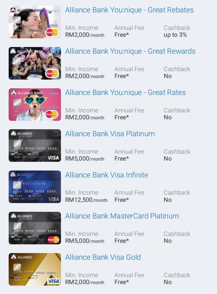 Kad Kredit Alliance Bank Popular Mohon Secara Online Alliance Bank Popular