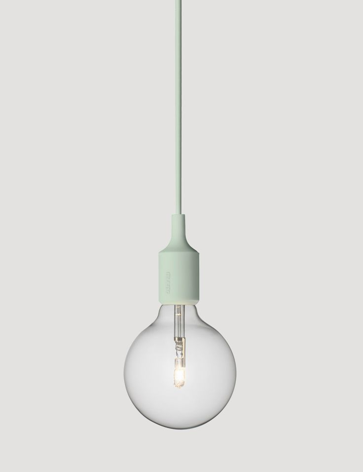 E27 has become a Muuto icon: A striking naked bulb that plays with the subtle aesthetics and simplicity of industrial design. Designed by Mattias Ståhlbom Comes in 13 different colors here in Light Green #muuto #muutodesign