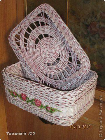 Поделка изделие Плетение Немного наплелось Трубочки бумажные фото 7