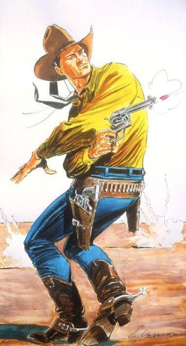 Luca Vannini - Tex Willer: Shooting them all! Comic Art