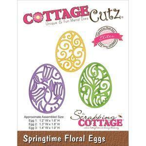 Wykrojnik do scrapbookingu Cottage Cutz - Ażurowe jajka