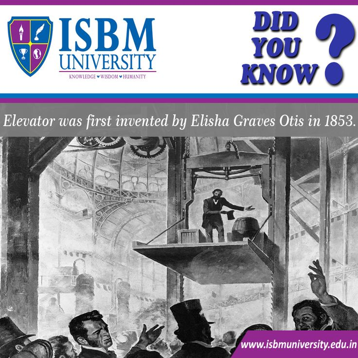 #DidYouKnow #ElishaGravesOtis (August 3, 1811 – April 8, 1861) was an #American industrialist, founder of the #Otis Elevator Company, and inventor of a safety device that prevents elevators from falling if the hoisting cable fails.#ISBMUniversity