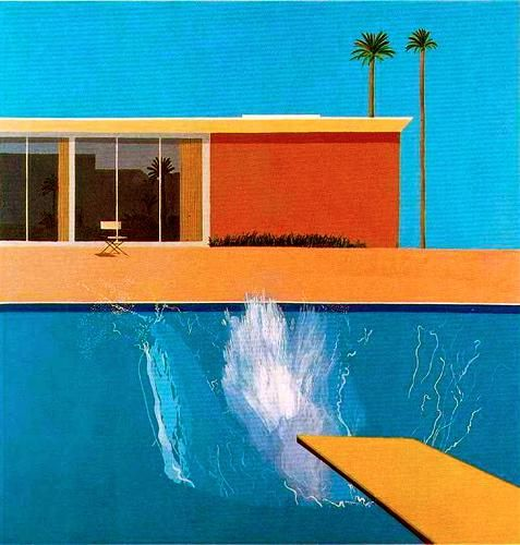 A Bigger Splash, (1967), David Hockney, peinture acrylique sur toile, 243x244cm, Londres, Tate Britain