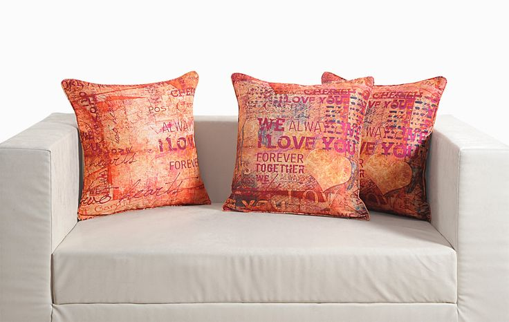 Designer red cushion covers - FlickDeal