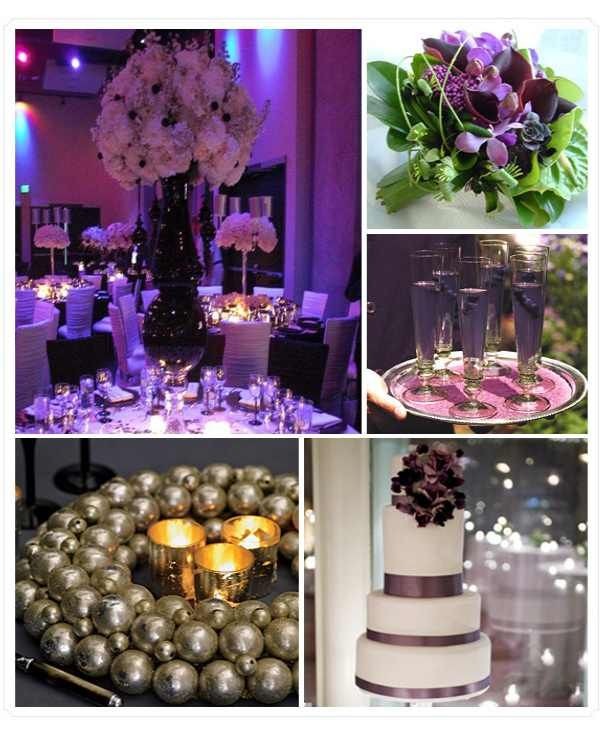 10 Best Images About Purple And Champagne Wedding On Pinterest