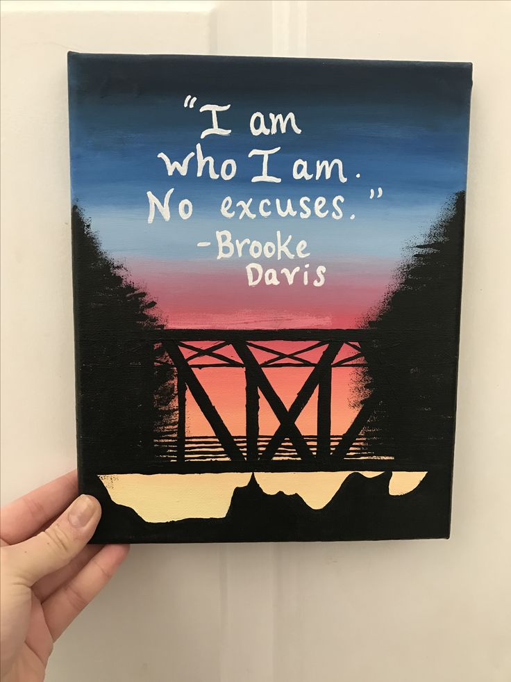 "One Tree Hill Brooke Davis quote canvas ""I am who I am. No excuses."" #OneTreeHill #BrookeDavis #OTH #Canvas"