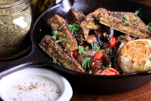 Za'atar Tofu: Za Atar Tofu, Vegan Recipes, Dinners, Cherry Tomatoes, Dinner Recipes, Ethical Vegan, Vegan Tofu, Bella Mushrooms
