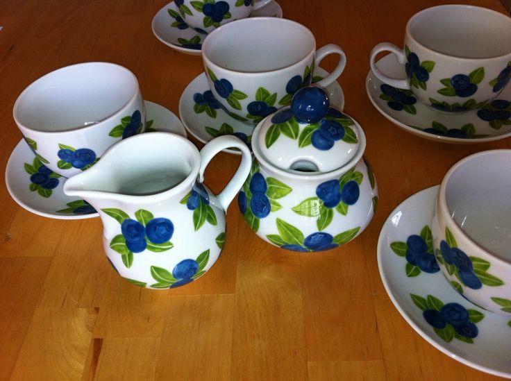 Filiżanki w borówki - cup in blueberries