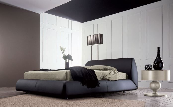 Beautifully styled here in dark brown leather there is a wonderful geometry to this #modern #bed. Comes in euroking & superking sizes & a large choice of colours and fabrics. Buy at #robinsonsbeds http://www.robinsonsbeds.co.uk/item/DallAgnese-Nova-Bed_22884_23_0_0.html