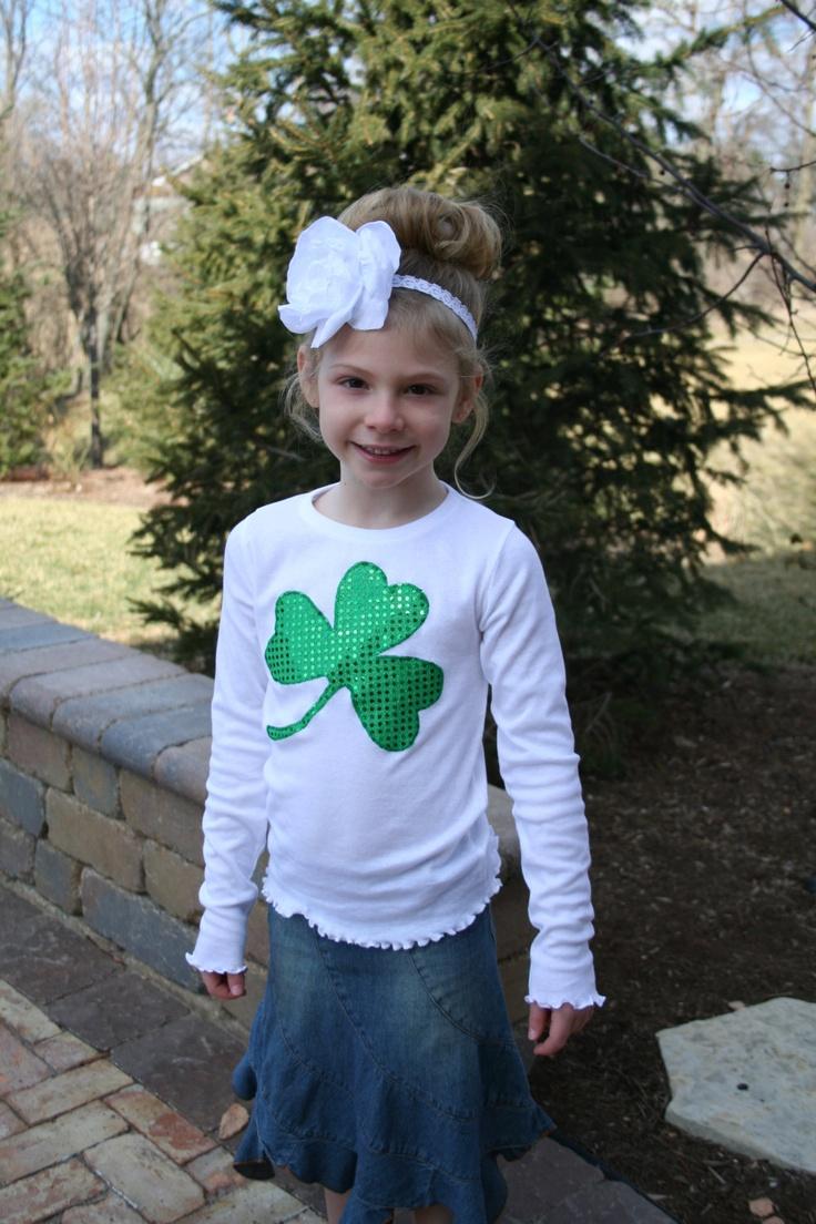 Girls Sequin St. Patrick's Day Shirt / St. Patricks Day Girls /  St. Patrick's Day Shirts / St. Patrick's T-Shirts / St. Patricks Shirts. $14.00, via Etsy.