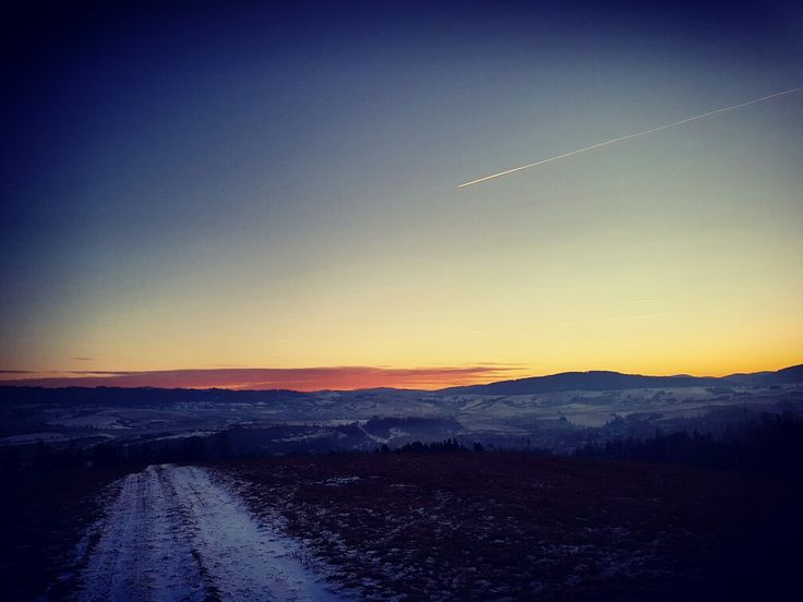#sunset #sky #winter #nature #view