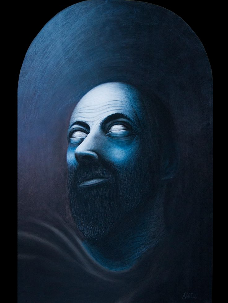 Portrait of El Greco  pastel on paper 40x70 cm