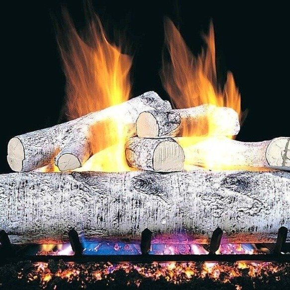 17 best Perfect Gas Fireplace Logs - Birch images on Pinterest ...