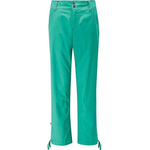 Rab Women's Valkyrie Pant ($80) ❤ liked on Polyvore featuring pants, seafoam, flat front pants, drawstring waist pants, green trousers, pocket pants and draw string pants