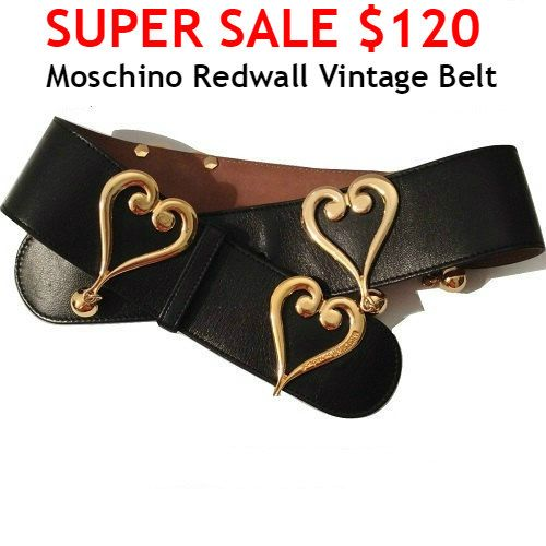 SUPER SALE Moschino Belt  Authentic Vintage 1980's by MODELUNA76