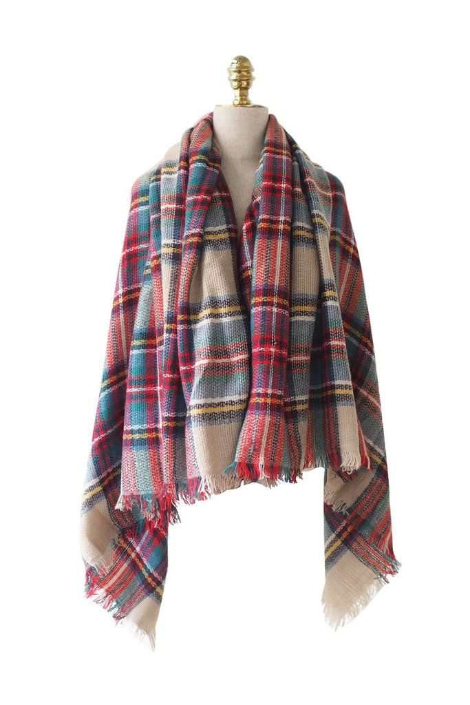 'Catriona' Red Gingham Scarf from Goodnight Macaroon