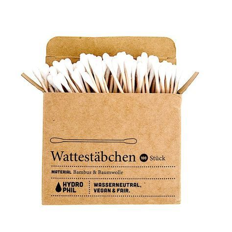 These 100% biodegradable cotton swabs are made from bamboo and cotton, and can s…