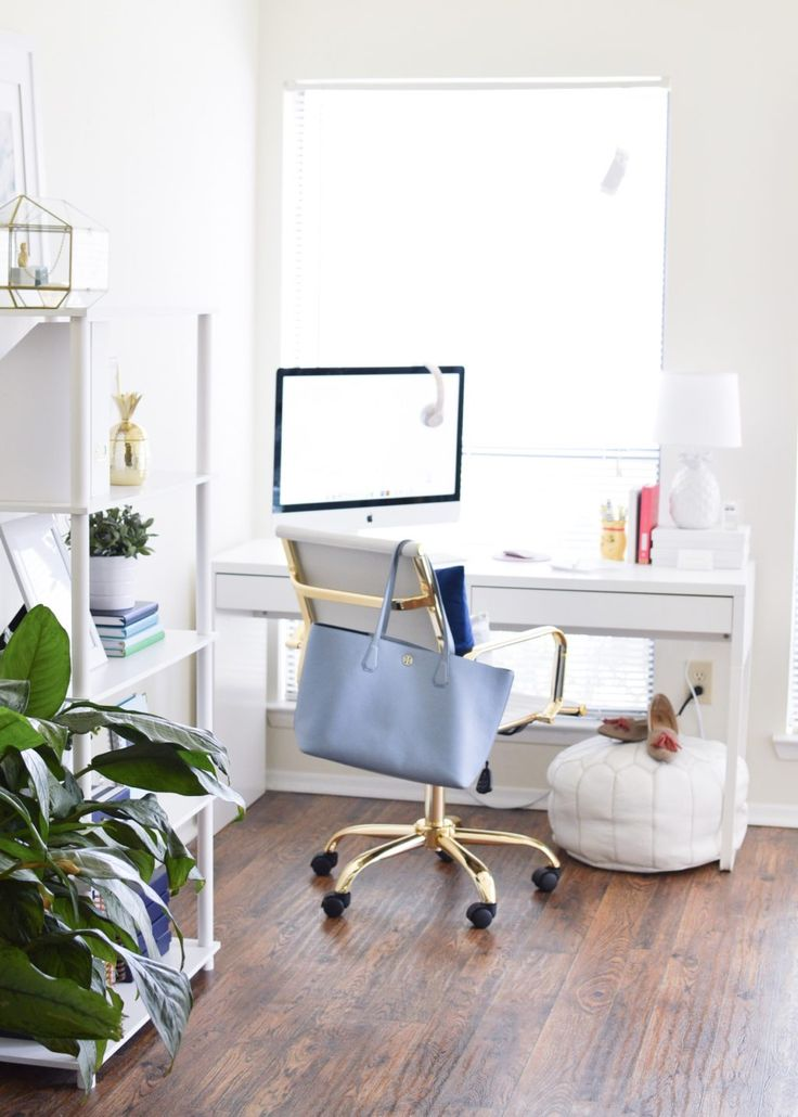 A bright white (and pineapple filled) office tour.