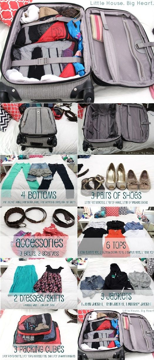 How to Pack for 2 Weeks in a Carry-On...because I love to travel. Never hurts to modify my packing routine.
