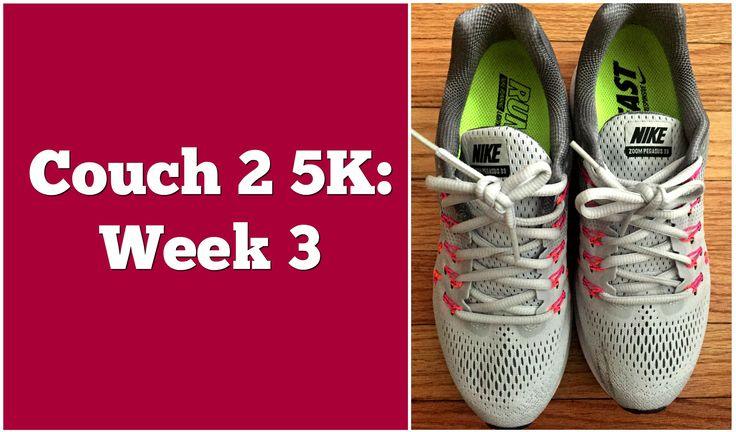 My fitness journey starts with the couch 2 5K running program. Week 3 proved to be easier than expected, but maybe that's due to new shoes.