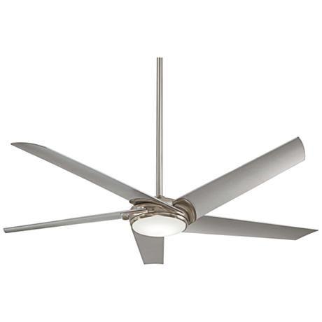 "60"" Minka Aire Raptor Brushed Nickel LED Ceiling Fan"