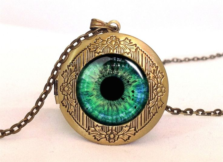 LOOK INTO MY EYES Locket, 0533LPB from EgginEgg by DaWanda.com