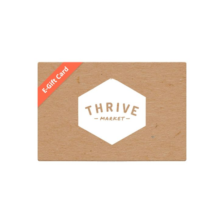 Buy online gift cards from Thrive Market. Prepaid organic food and healthy products, delivered to your door! Save money, eat well and share the goodness with a gift card.