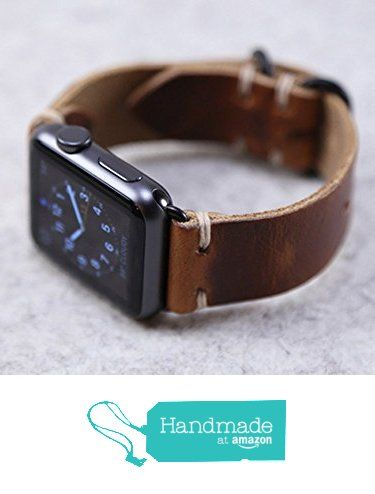 Horween Leather Apple Watch Band English Tan Dublin from Choice Cuts Industries https://smile.amazon.com/dp/B01FWJV55C/ref=hnd_sw_r_pi_dp_cAjJxbA0TR8TT #handmadeatamazon