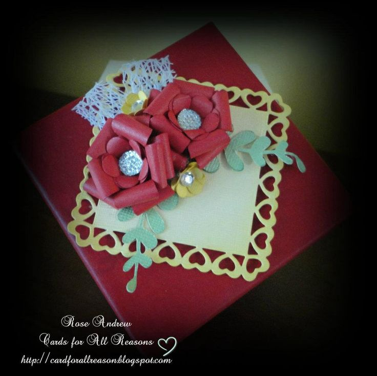 Gift box with handmade roses