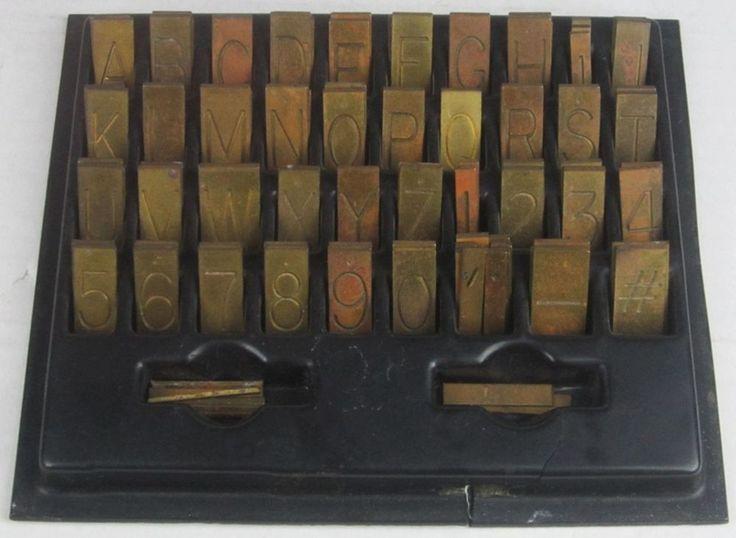 "New Hermes Single Line 1 1/4"" Brass Engraving Font 95 Pieces #NewHermes"
