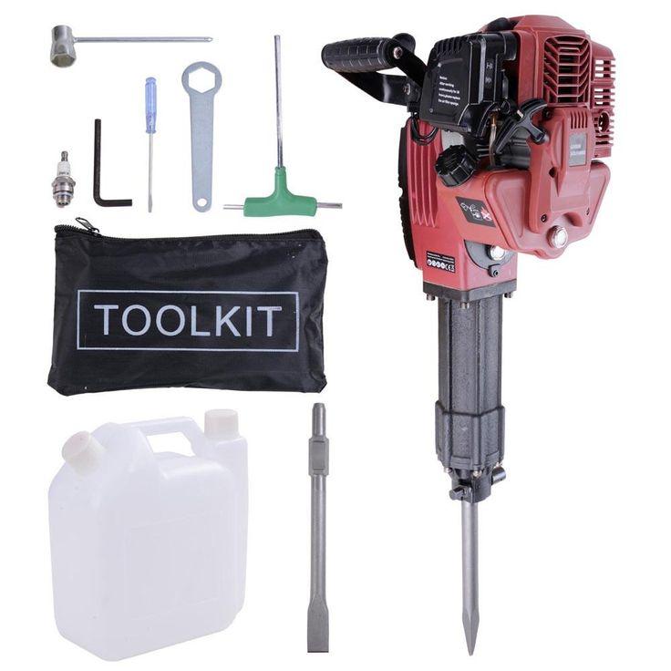 52cc gas powered jack hammer demolition breaker kit 1700w