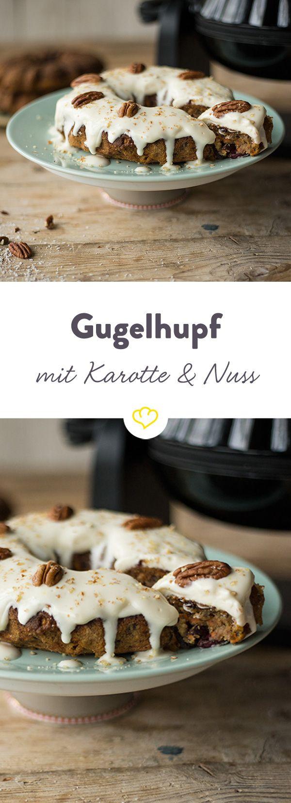 Der Karotten-Gugelhupf aus dem Unold Kuchenbäcker ist schnell gemacht und bringt angenehm exotisches Flair auf deinen Kaffeetisch.
