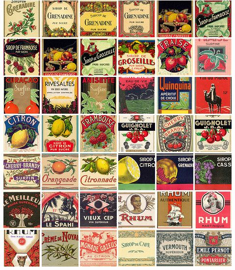 Étiquettes vintage à imprimer pour mariage rétro