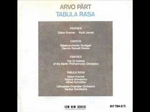 Arvo Pärt - Fratres (for Violin & Piano) .... I am so in love with this piece of music I think I could put it on repeat all day