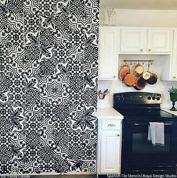 Kitchen Wall Stencil Ideas: Best 25+ Wall Stencils For Painting Ideas On Pinterest