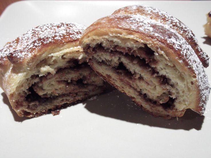 Olga's cuisine...και καλή σας όρεξη!!!: Γλυκό ψωμί γεμιστό με μερέντα και τριμμένο φουντού...