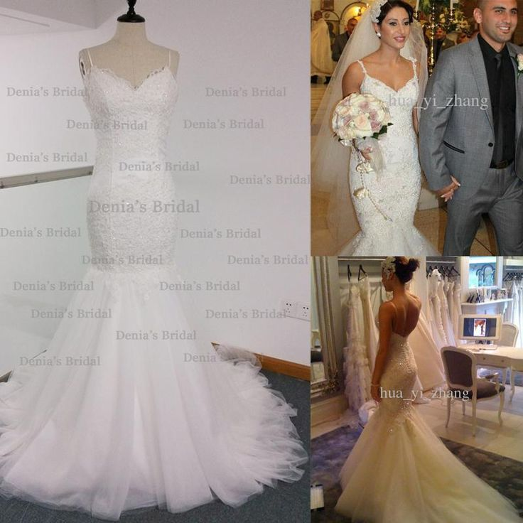Real Image Mermaid Wedding Dress Spaghetti Straps Backless With Lace Appliques Chapel Train Bridal Gowns Steven Dhyz 01 Tulle Wedding Dresses Wedding Dress Store From Hua_yi_zhang, $172.74  Dhgate.Com