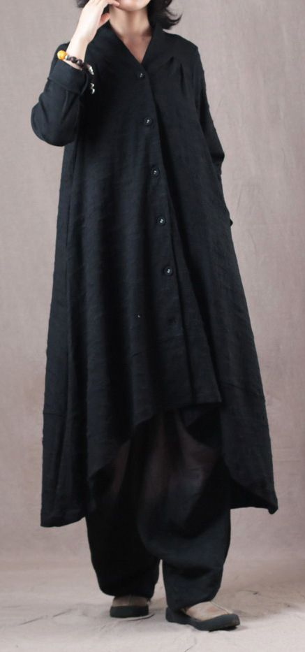 9ba0cd28cd7d7 vintage-black-Jacquard-Coat-plus-size-V-neck-cardigans-boutique-asymmetric- Winter-coats2