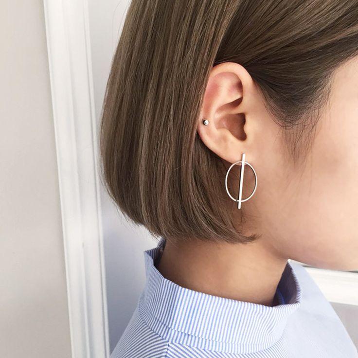 무료 배송 2016 새로운 도착 실버 라운드 스터드 귀걸이 925 스털링 실버 스터드 귀걸이 여성 보석 Pendientes Brinco