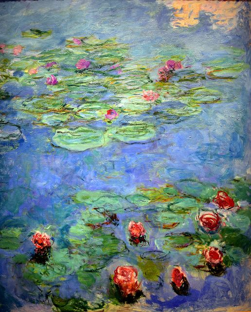 claude monet water lilies | Claude Monet - Water Lilies, 1917