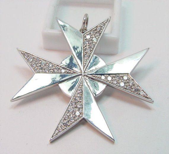 Sterling Sliver Maltese Cross
