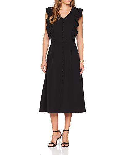 28155548c11ff Silvian Heach Pittsfield Vestito Elegante Donna Nero Small (Taglia  Produttore S)